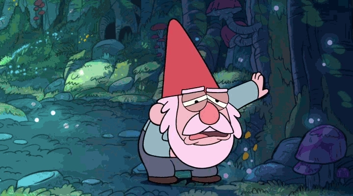 gfycatdepot, When you drink too much of the good stuff you gotta let it out [Cartoon Gnome puke vomit rainbow colorful barf] (reddit) GIFs