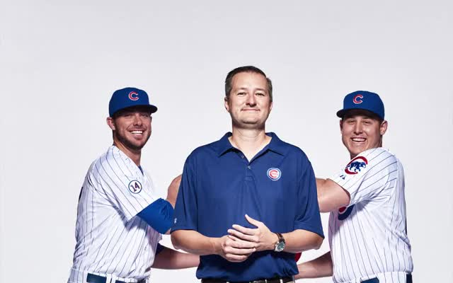 Watch and share Rizzo And Bryant Have Fun With Ricketts #WeAreGood GIFs on Gfycat