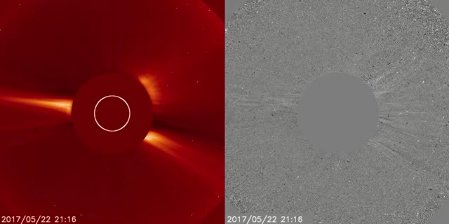 Watch and share Partial HALO CME May 23, 2017 - C2 GIFs by The Watchers on Gfycat