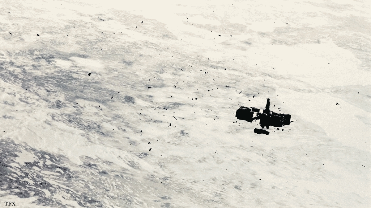interstellar, What the docking scene would have looked like at an actual 65-70 RPM (reddit) GIFs