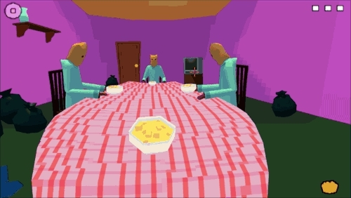 Gaming, free game, free games, funny, funny games, games, indie game, indie games, indie gaming, last meal, linux, mac, mac games, pc games, pc gaming, potato dalad, video games, In Last Meal you are 'invited' to a cultists dinner party wh GIFs