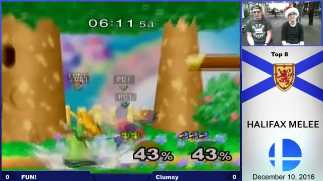 [HE2] Losers Quarters - Clumsy (Falco) vs FUN! (Peach, Fox)