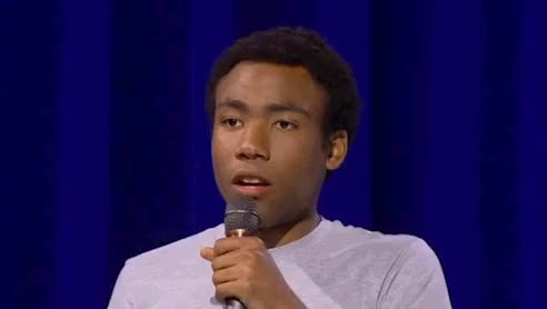 Watch and share Donald Glover Good Glad DIlemma Stand Up Comedy GIFs by Ricky Bobby on Gfycat