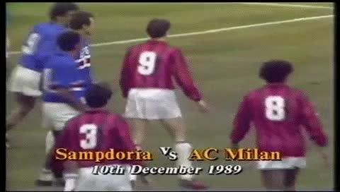 Watch and share Carlo Ancelotti. Sampdoria - Milan. 10.12.1989 GIFs by fatalali on Gfycat