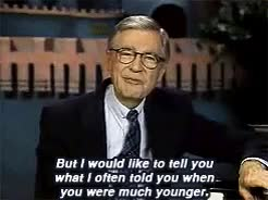 Watch and share Mister Rogers GIFs and Fred Rogers GIFs on Gfycat