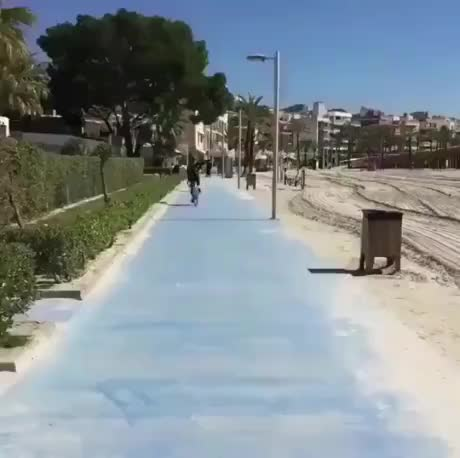 Trying to bike on sand gif