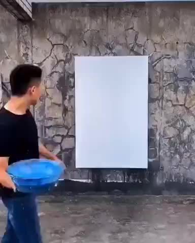 The way this artist paints is brilliant - gif