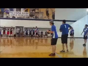 Dodgeball Backflip...WCGW? : Whatcouldgowrong GIFs