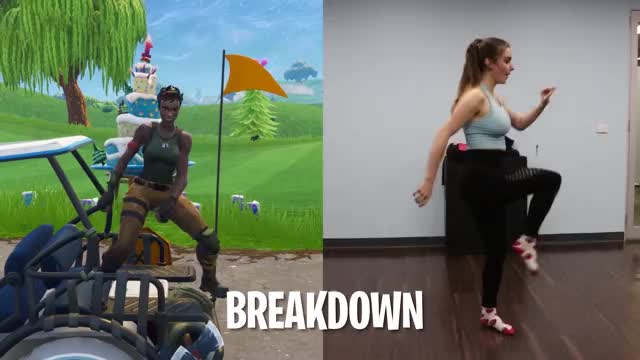 FORTNITE DANCES ON A GOLF COURSE! (Season 5 Emotes)