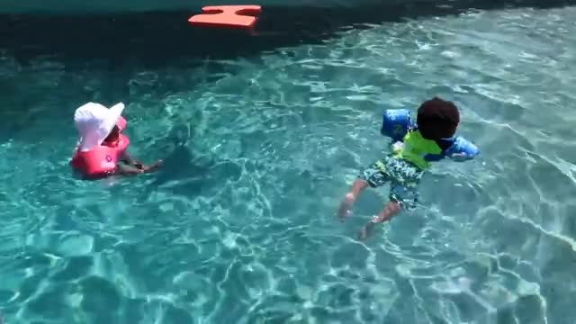 Watch JAXSON & JAYLA SWIM IN THE DEEP END OF THE POOL! 👶🏽👶🏾😍 GIF on Gfycat. Discover more Jayla, Married, Pregnancy, Twins, diet, expecting, fitness, health, itsjudyslife, jaxson, life, reality, relationship, teamtransformation, thesocialitelife, thesocialitelifetv, vloggers, vlogging, workout GIFs on Gfycat