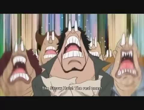 OnePiece - Luffy vs Pacifista [HQ] GIFs