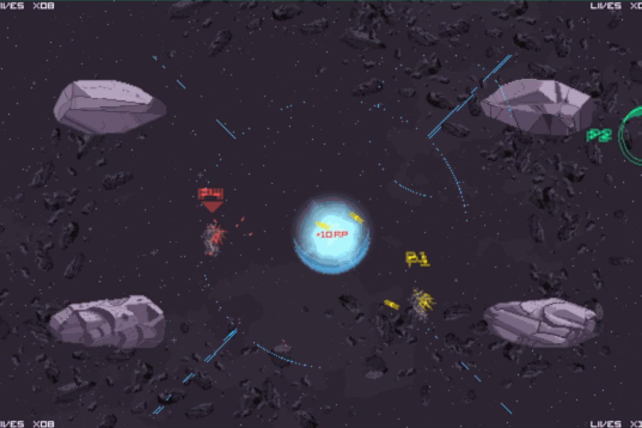TowerFall meets Gundam, Macross in Stardust Vanguards GIFs