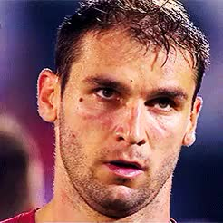 Watch Gone GIF on Gfycat. Discover more Also, Branislav Ivanovic, Calcio, Chelsea FC, Euros, He looks like he's seen Hell, I Me Mine, I can't speak a lick of Serbian, Serbia NT, So someone will have to fill in the blanks with what he said GIFs on Gfycat