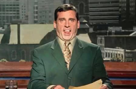 anchorman, awkward, broadcast, carrel, dizzy, funny, lick, steve, steve carell, stuck, tongue, Awkward Steve GIFs