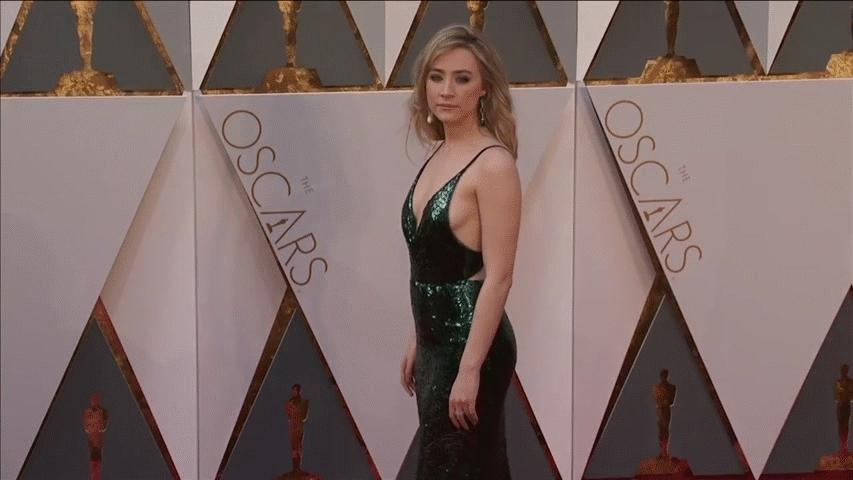 SaoirseRonan, popular, Saorise Ronan at the Oscars (looking for higher res) (reddit) GIFs