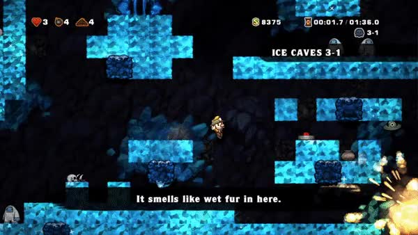 Watch and share Spelunky GIFs by meowmixmix on Gfycat