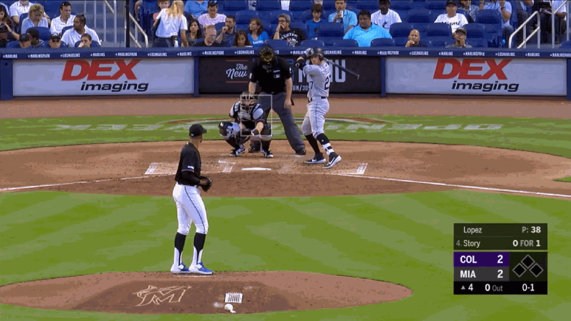 Colorado Rockies, Miami Marlins, baseball, Pablo Lopez-FB-95ballgoodplacement GIFs