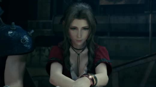 Watch and share Aerith Sighing - Final Fantasy VII Remake GIFs by wduk88 on Gfycat