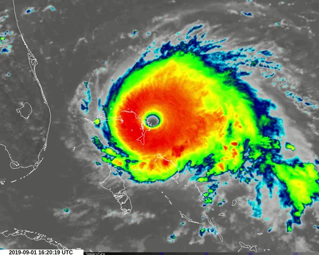 Watch and share Hurricane Dorian Over The Bahamas On September 1 And 2, 2019 GIFs by The Watchers on Gfycat