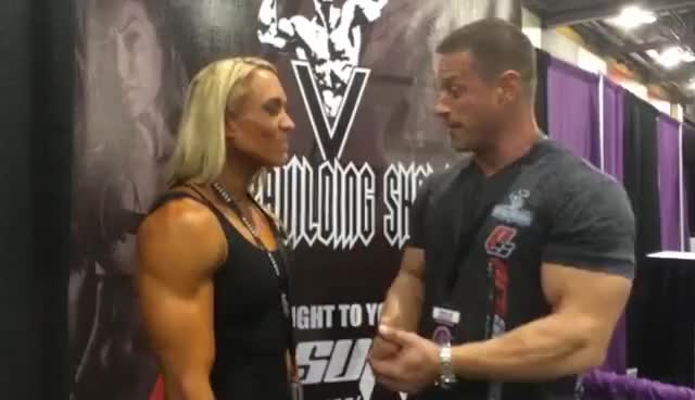 Watch V Bodybuilding Show - IFBB Pro Marnie Holly GIF on Gfycat. Discover more related GIFs on Gfycat