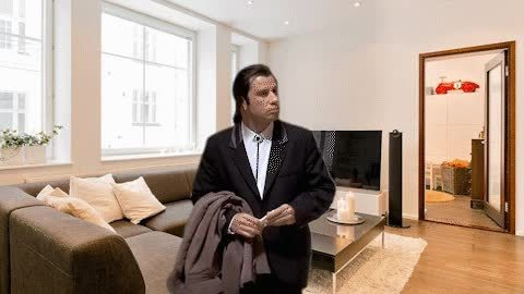 confusedtravolta, MRW I arrive ar my friend's place and there is no coat rack GIFs