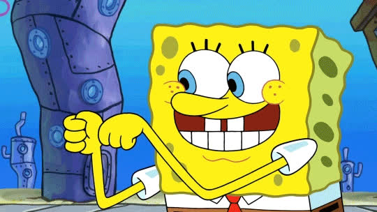approval, awesome, cool, cool story bro, good job, neat, nice, spongebob, thumb up, thumbs up, yes, Spongebob Thumbs Up GIFs