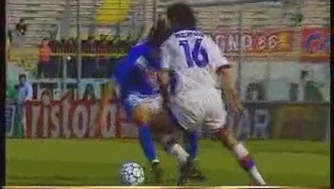 Watch and share Roberto Baggio. Brescia - Bologna. 1997-98 GIFs by fatalali on Gfycat