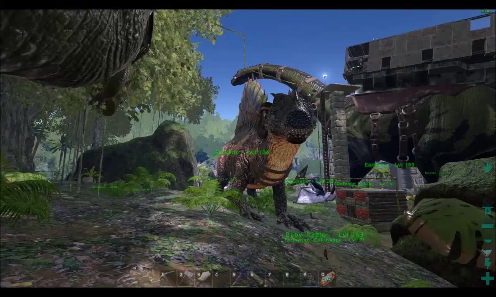 ark, playark, Baby Raptor Size refrence GIFs