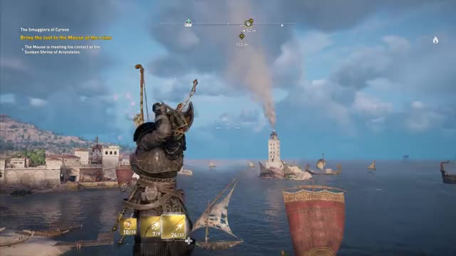 Watch and share Assassin's Creed: Origins - Arrow Aiming Glitch GIFs on Gfycat