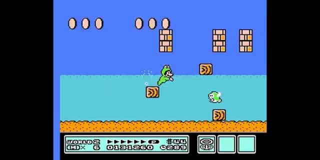 Watch and share Super Mario Bros 3 - Frog Suit Playthrough GIFs on Gfycat