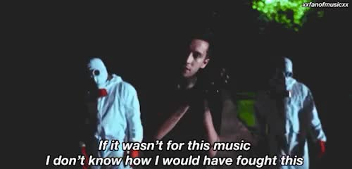 Watch and share Twenty One Pilots GIFs and 21p Lyrics GIFs on Gfycat