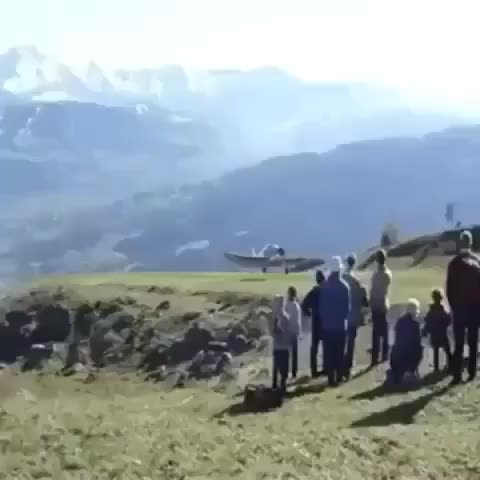 Plane does a perfect nose stand GIFs