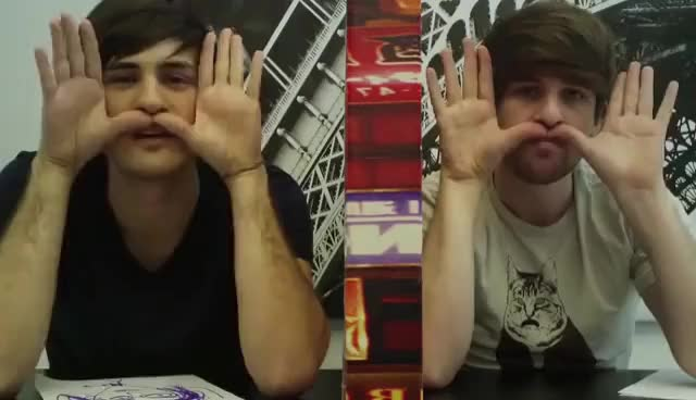Watch mustachewave GIF on Gfycat. Discover more lol, smosh GIFs on Gfycat