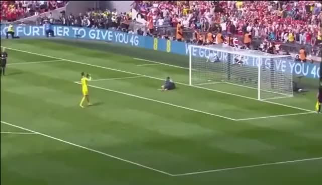 Watch and share Courtois Penalty Miss GIFs on Gfycat