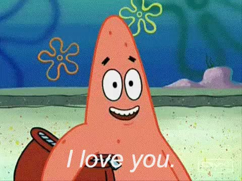 Watch and share Patrick Star GIFs and I Love You GIFs on Gfycat