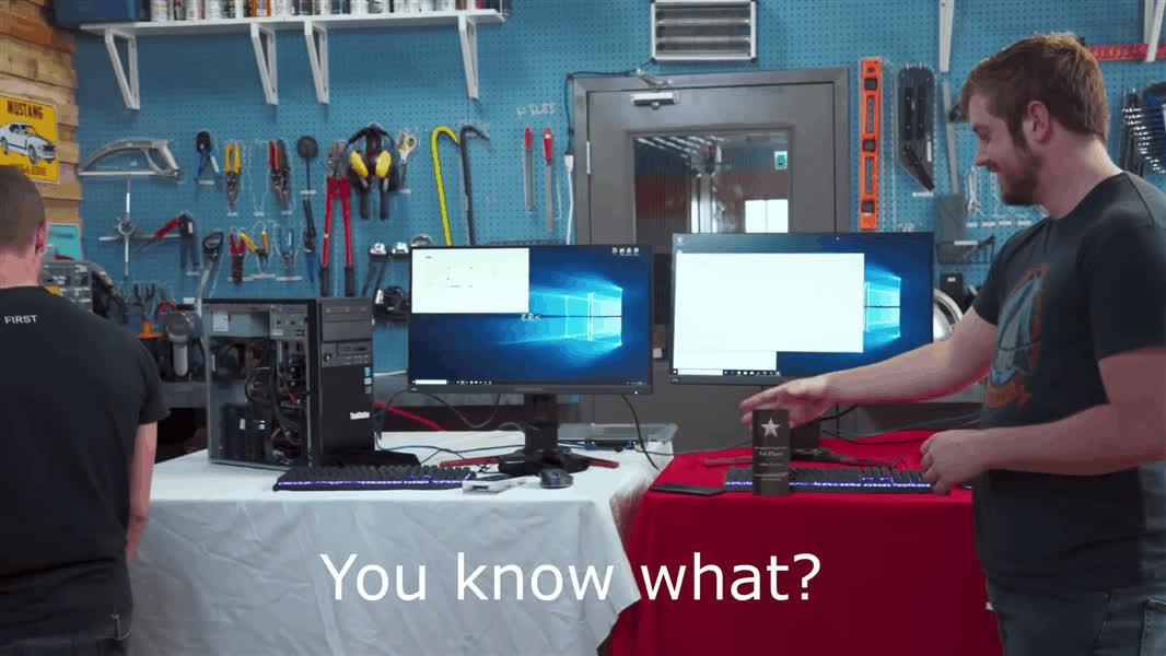 celebs, linus sebastian, This is by far my favorite part of season 7 of Scrapyard Wars GIFs