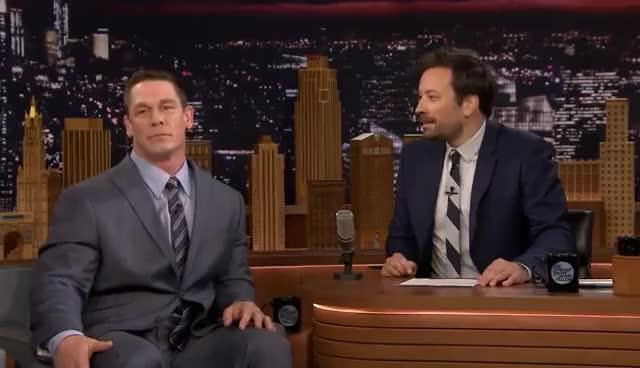 john cena, John Cena Deadlifts Jimmy Fallon GIFs