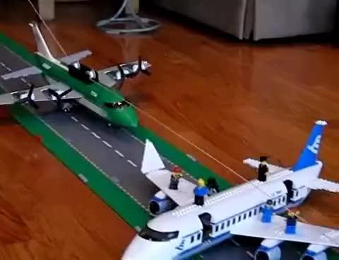 Watch and share Lego Plane Crash GIFs on Gfycat