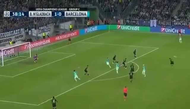 Watch and share Borussia Moenchengladbach Vs Barcelona 1-2 Goals & Highlights 28/09/2016_ GIFs on Gfycat