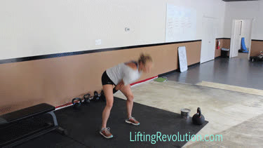 alternating kettlebell snatches GIFs