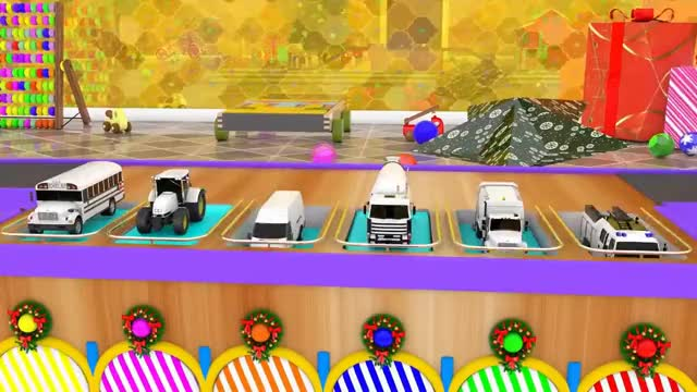 Learn Colors For Children With Street Vehicles Color Change In Balls