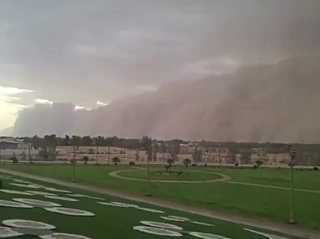 Watch and share Impressive Sandstorm Hits Saudi Arabia's Northern City Of Sakaka GIFs by The Watchers on Gfycat