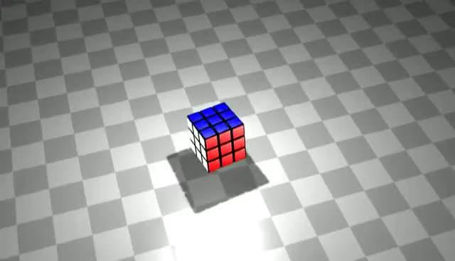 Rubik's Cube 3ds max - Rotating GIFs