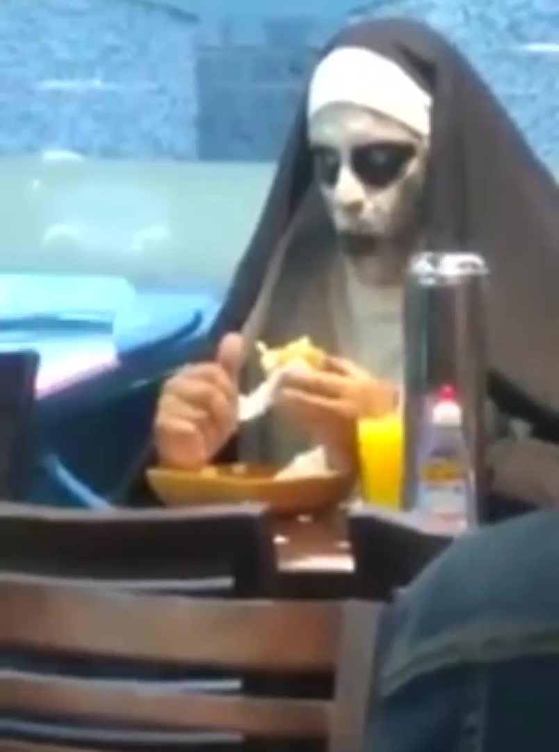 Creepy nun - gif