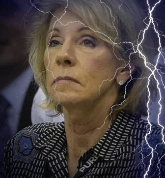 Watch and share Betsy DeVos — A Clear And Present Danger By Ann Policelli Cronin - Wait What? GIFs on Gfycat