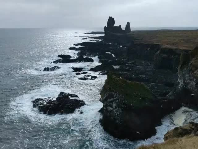 Watch Londrangar, Iceland [OC] GIF on Gfycat. Discover more related GIFs on Gfycat