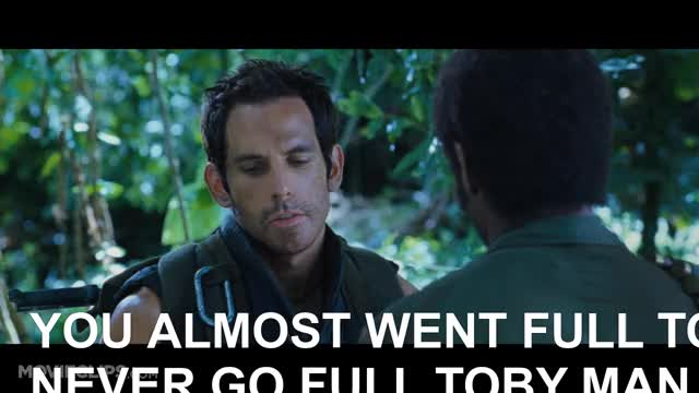 Watch TOBY GIF on Gfycat. Discover more action comedies, celebrity, celebs, comedy, gun videos, robert downey jr, showbiz comedies, spoofs and satire, tropic thunder, tropic thunder clip, tropic thunder tom cruise, tropic thunder trailer GIFs on Gfycat