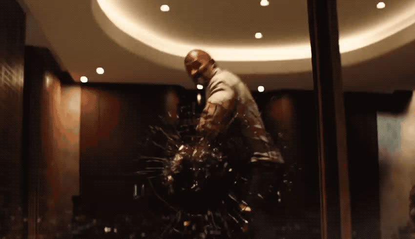 angry, away, break, destroy, dwayne, fight, glass, johnson, mad, movie, new, off, pissed, rock, save, skyscraper, strong, the, throw, window, Skyscraper trailer GIFs