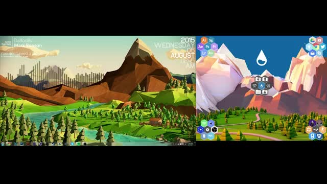 Watch and share Rainmeter GIFs and Lowpoly GIFs by flickmyfuj on Gfycat