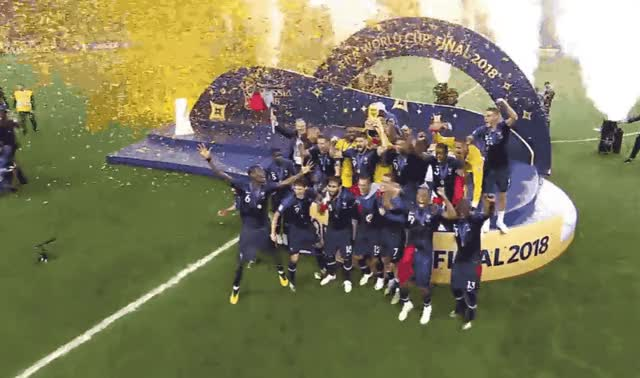 Watch this soccer GIF by GIF Queen (@ioanna) on Gfycat. Discover more 2018, awesome, celebrate, cup, epic, excited, football, france, great, happy, party, priceless, russia, victory, wc, win, winner, world, yay, yeah GIFs on Gfycat